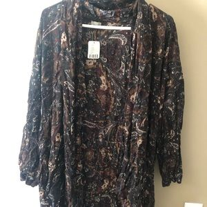 Black/multi colored kimono from Urban Outfitters